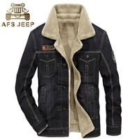 Trendy M~4XL 2017 Retro Warm Denim Fleece Jackets Mens Jeans Coats Winter Jackets Brand CLOTHES Thicken Jean Denim Coat Outwear Male AT_94_13