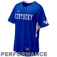Nike Kentucky Wildcats Royal Blue Batting Practice Top Performance Baseball Jersey