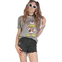 70s 80s Punk Rock Ringer Tee - Vintage 80s Shirt - Ringer T-Shirt - Beer Shirt Party - Punk AF - Rock and Roll Shirt Mohawk Duck Paper Thin