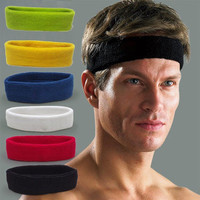 2017 Top Fashion Promotion Adult Mens Sports Headband Hairband Stretchy Sweatbands Yoga Gym Hair Head Band Ladies Accessories