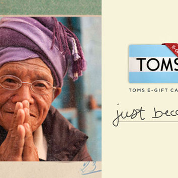 TOMS 150 eGift Card