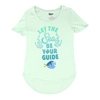 Disney Finding Dory Let the sea be your guide Graphic Design Men's White T-shirt
