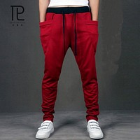 2017 Unique Pocket Mens Joggers Cargo Men Pants Sweatpants Harem Pants Men Jogger Pants Men Pantalones Hombre chino 8 Colors #B1