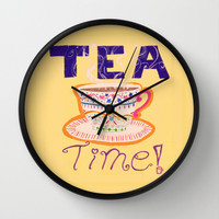 Tea Time Wall Clock by Nogah