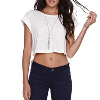 LA Hearts Cropped Deconstructed Tee at PacSun.com