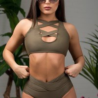 Sunny Bay Olive Swimsuit Two Pieces