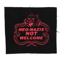 Neo-Nazis Not Welcome Large Fabric Patch