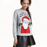 Sweater with Motif - from H&M