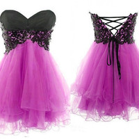 Fantastic Lace Ball Gown Sweetheart Mini Prom Dress/Graduation Dress/Homecoming Dress/Formal Dress