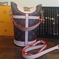 Louis Vuitton letter printing fashion casual ladies bucket bag handbag shoulder messenger bag
