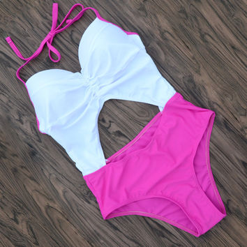 One Piece Swimsuit Beachwear Slim Bathing Suit Bodysuit