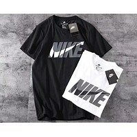 NIKE new trend men and women stylish big hook T-shirt F-A-BM-YSHY
