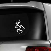 Dear & doe in love car decal, graphic decal, vinyl decal, decal, sticker, car sticker, laptop sticker