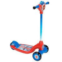 Toddlers, Kids 3 Wheel Wheeled Spiderman Kick Scooter with Lights and Sounds