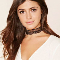 Scalloped Lace Choker | Forever 21 - 1000235547