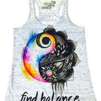 Premium Find Balance Girls Tank – ElectroThreads
