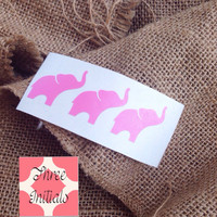 Elephant Car Decal Monogram Decal Monogram Vinyl Vinyl Decal Monogram Gift Monogram sticker Car sticker Car Initials Vinyl Initials elephant