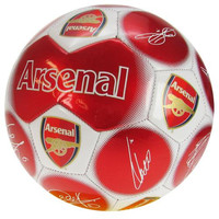 Arsenal FC  - Red Size 5 Ball With Team Signatures