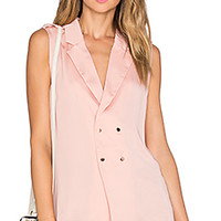L'Academie The Military Blouse in Blush