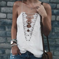 Two Sides Wear Sleeveless Off Shoulder Tunic Shirt Top Blouse