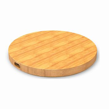 Bamboo Qi Wireless Charger Pad For iPhone