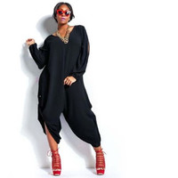 Plus Size Sexy Women Summer Loose Chiffon Romper Baggy Harem Jumpsuit Playsuit