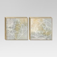 "2-Pack Geometric Framed Canvas 18""x18"" - Project 62™"