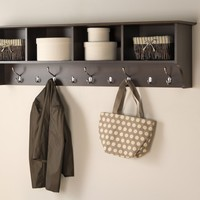 "Prepac 60"" Hanging Entryway Shelf, Espresso"