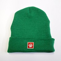 "STONERDAYS 12"" KNIT GREEN BEANIE"