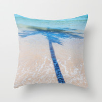 TREE IN SEA Throw Pillow by Catspaws   Society6