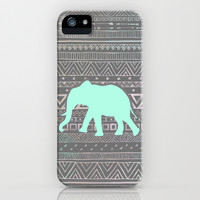 Mint Elephant  iPhone & iPod Case by Sunkissed Laughter