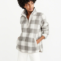 Womens Sherpa Half-Zip Pullover | Womens New Arrivals | Abercrombie.com