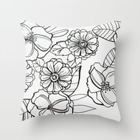 Floral Pattern I Throw Pillow by Christine Hall