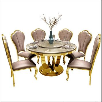 Round Marble Dining Table With Chairs