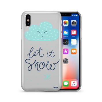 Let It Snow - Clear TPU Case Cover