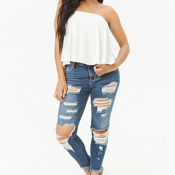 Split Back Billowy Top