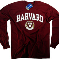 Harvard Shirt T-Shirt Law College University Crimson Crew NCAA Officially Licensed