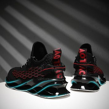 New Outdoor Men Running for Men Jogging Walking Sports Shoes High-quality Lace-up Athietic Breathable Blade Sneakers