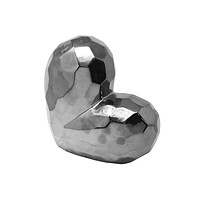 Glazed Ceramic Heart Shaped Sculpture, Silver By Sagebrook Home