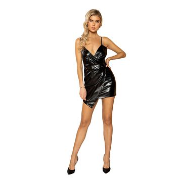 Leather Overlapping Dress