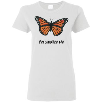 Monarch Butterfly Personalized Ladies' 5.3 oz. T-Shirt