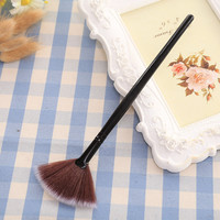 Long Handle Fan Shape Cosmetic Brush Contour Blending Highlighter Concealer Foundation Synthetic Kit