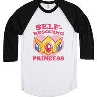 Self-Rescuing Princess-Unisex White/Black T-Shirt