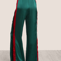 Striped Side Tailored Wide Leg Pants