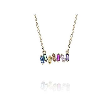 Rainbow of Color Bar Necklace