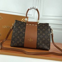 lv louis vuitton womens leather shoulder bag satchel tote bags crossbody 654