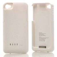 Amazon.com: DC (White) Super Quality External 1900mah Battery Pack Power Station for Apple Iphone 4/4S with Protective Back Cover Go Portable Case Charger for At&t and Verizon: Cell Phones & Accessories