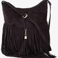 FRINGED HOBO BAG from EXPRESS