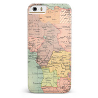 The Zoomed In Africa Map  iPhone 5/5s or SE INK-Fuzed Case