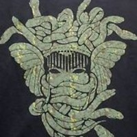 NWT Mens Crooks & Castles Camo Medusa Black Tee Shirt size Medium
